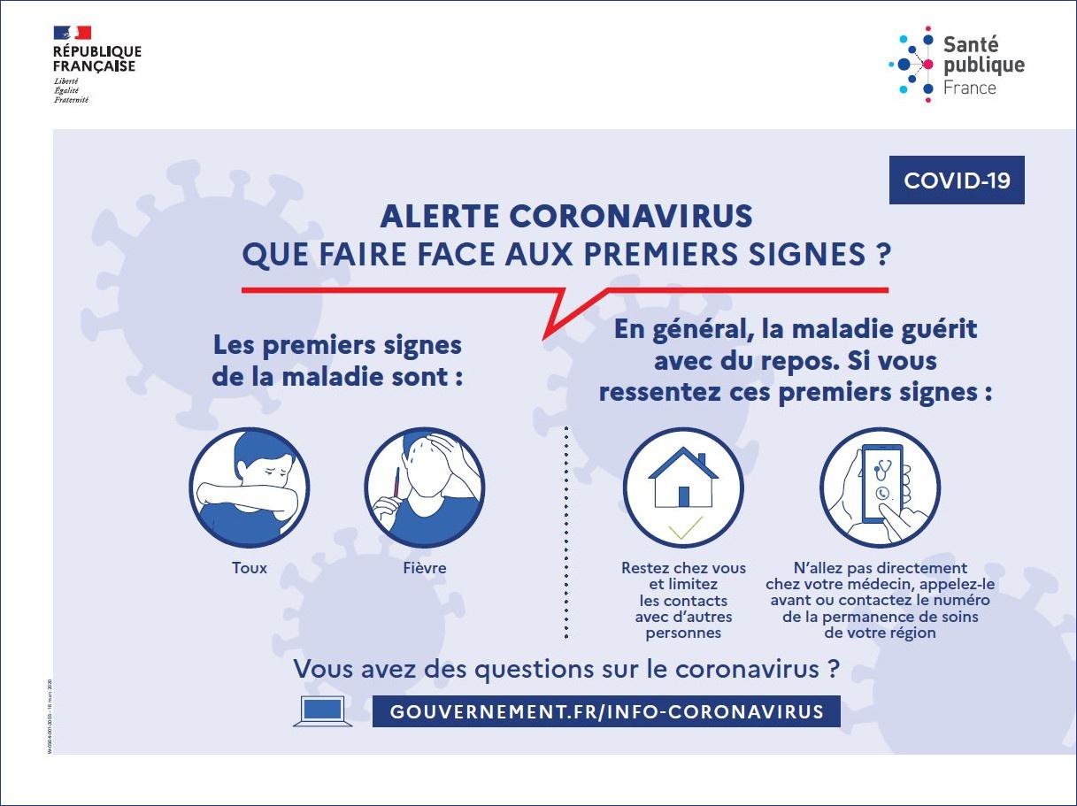 Alerte coronavirus : que faire face aux premiers signes de la maladie ?